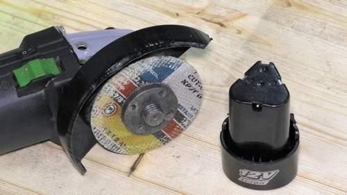 Alteration 12 Volt Angle Grinder