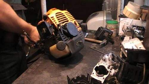 How to Disassemble a Gasoline Trimmer. Malfunctions And Their Resolving