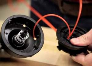 How to Thread a Fishing Line into a Trimmer Coil