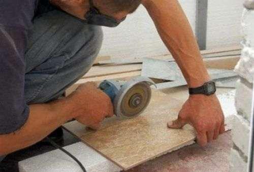 how to saw tile angle grinder