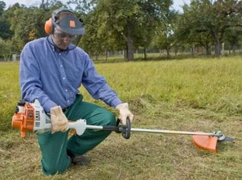 running in the Stihl trimmer