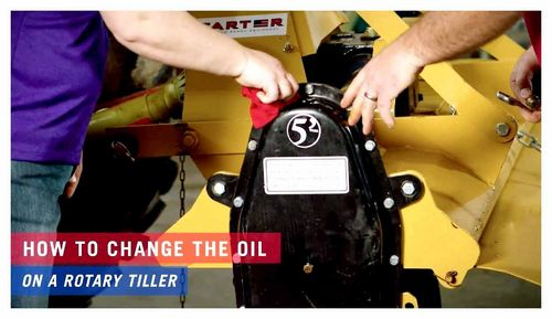 How To Drain Oil From A Tiller Gearbox