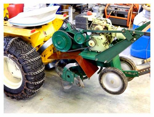 Kit For Converting A Tiller Into A Mini Tractor