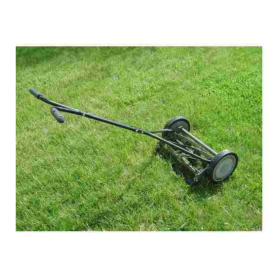 manual, grass, trimmer, mowing